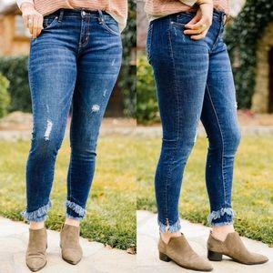 Size 9 restock❗️KanCan Double Trouble Fringe Jeans